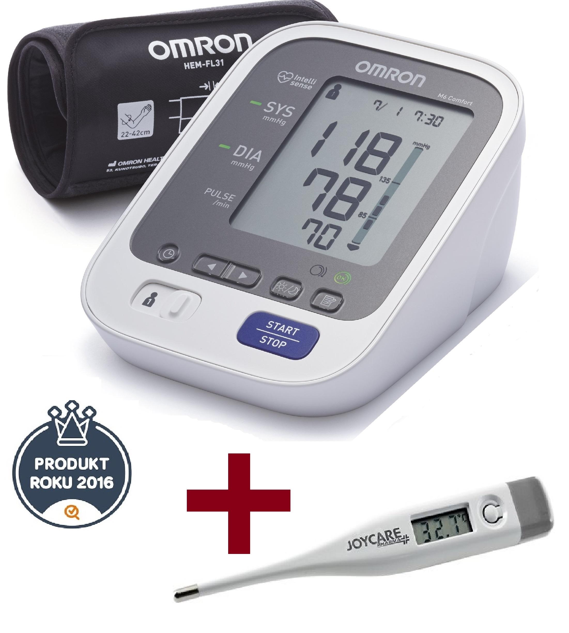Tlakoměr OMRON M6 Comfort s Intelli manžetou - 3 roky záruka