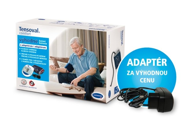 Tlakoměr TENSOVAL Comfort Large + adaptér