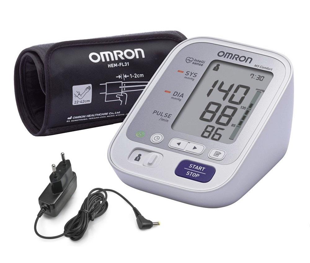 Tlakoměr OMRON M3 Comfort + zdroj (SET)